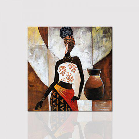 Hx-Art Unframed Canvas Western Minimalist Living Room Hallway Décoration Peinture - multicolore 80CMX80CM