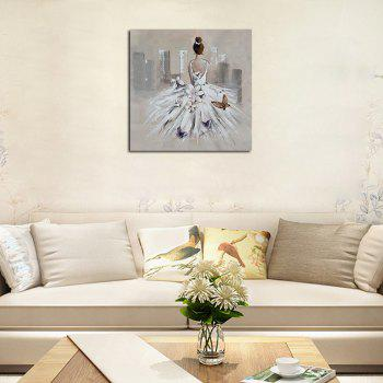 Hx-Art Unframed Canvas Dance Dresses Butterfly Decoration Paintings - COLORMIX 80CMX80CM