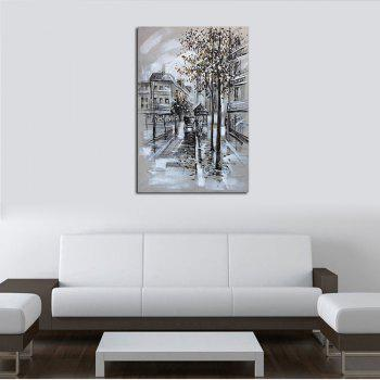 Hx-Art No Frame Canvas Grey Abstract Street Living Room Hallway Decoration Paintings - COLORMIX 80CMX120CM