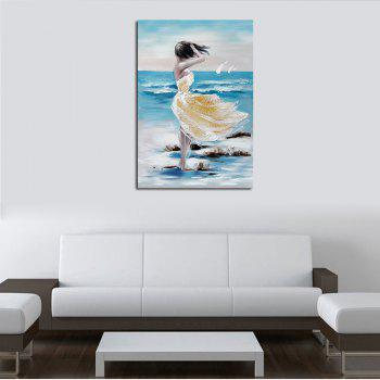 Hx-Art No Frame Canvas Decorative Painting Dancing On Beach Skirt - COLORMIX 80CMX120CM
