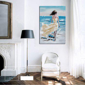 Hx-Art No Frame Canvas Decorative Painting Next To The Sea Flying Skirt Living Room Bedroom Decor Pictures - COLORMIX 80CMX120CM