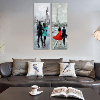 hx art no frame canvas couple two sets of painting living room corridor bedroom paintings - Living Room Paintings