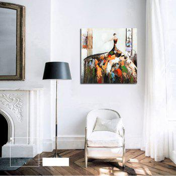 Hx-Art No Frame Canvas Abstract Colored Flower Skirt Decorative Paintings - COLORMIX 80CMX80CM