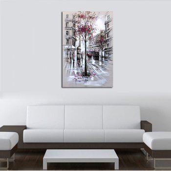 Hx-Art No Frame Canvas Street-2 Pink Petals Falling Street Decorative Paintings - COLORMIX 80CMX120CM