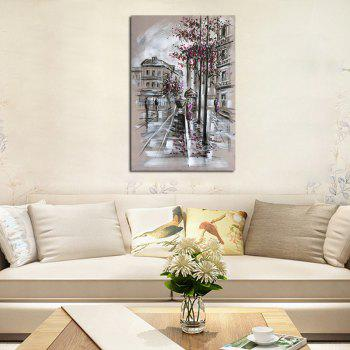 Hxart No Frame Decoration Canvas Street-3 Pink Petals In The Street Paintings - COLORMIX 80CMX120CM