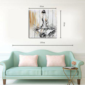 Hx-Art Frameless Picture Frame Canvas Dancing Girl Dances-A Decorative Paintings - COLORMIX 80CMX80CM