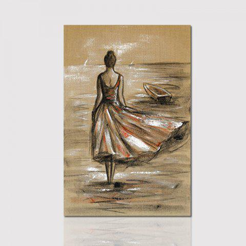 Hx-Art Frameless Picture Frame Canvas Decorative Painting Beautiful Girl Figure Paintings - COLORMIX 80CMX120CM