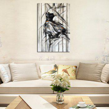Hx-Art No Frame Canvas Salon Black and white Dance Girls Peintures décoratives - multicolorcolore 80CMX120CM
