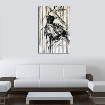 Hx-Art No Frame Canvas Living Room Black And White Dance Girls Decorative Paintings - COLORMIX 80CMX120CM