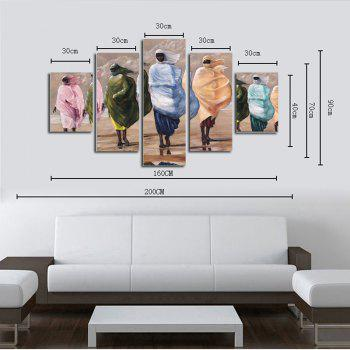 Hx-Art No Frame Five-Set Picture Masked Woman Living Room Sofa Background Decorative Paintings - COLORMIX
