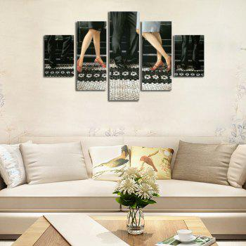 Hx-Art No Frame Five-Set Painting Dancer Legs Down The Living Room Decoration Paintings - COLORMIX