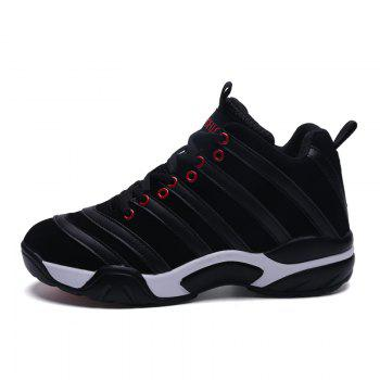 Men Casual Basketball Shoes - BLACK BLACK