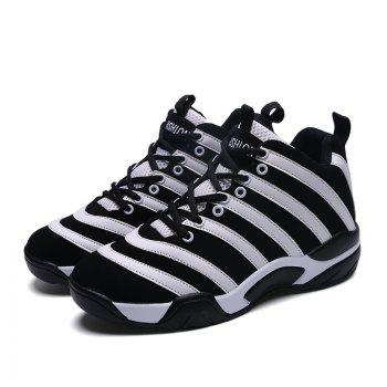 Men Casual Basketball Shoes - WHITE WHITE