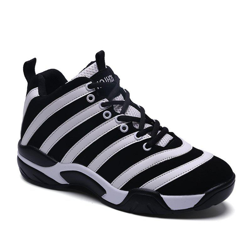Men Casual Basketball Shoes - WHITE 40