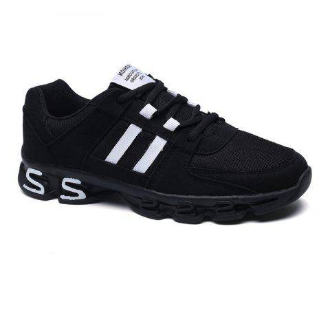 Color Block Mens Sports Shoes - BLACK / WHITE 42