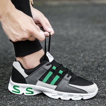 Color Block Mens Sports Shoes - GREY/GREEN GREY/GREEN
