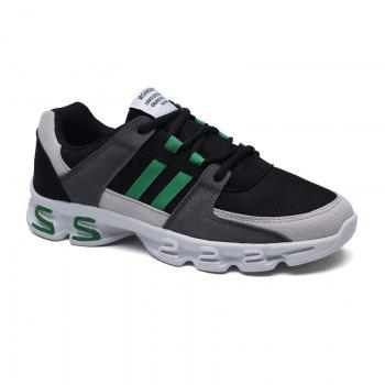 Color Block Mens Sports Shoes - GREY AND GREEN 39
