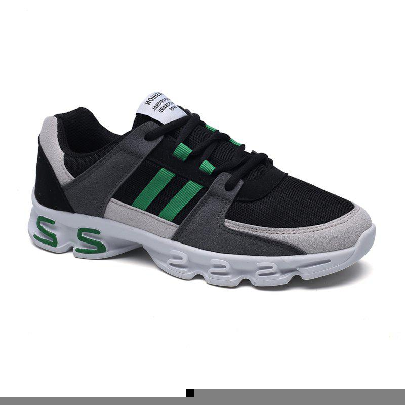 Color Block Mens Sports Shoes - GREY/GREEN 40