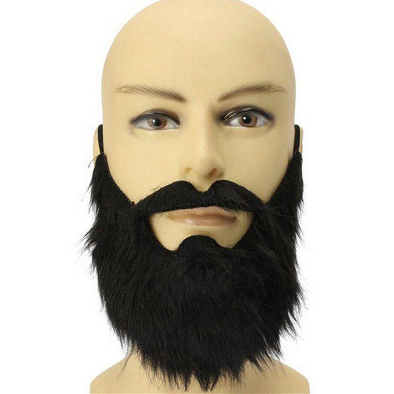 Funny Halloween Costume Party Male Up Black Beard - BLACK