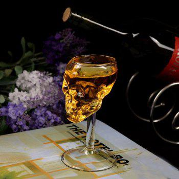 High Boron Silicon Glass 3 D Vodka Whisky Observation Skulls Wine Goblet - CLEAR WHITE CLEAR WHITE