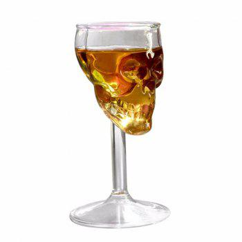 High Boron Silicon Glass 3 D Vodka Whisky Observation Skulls Wine Goblet - CLEAR WHITE