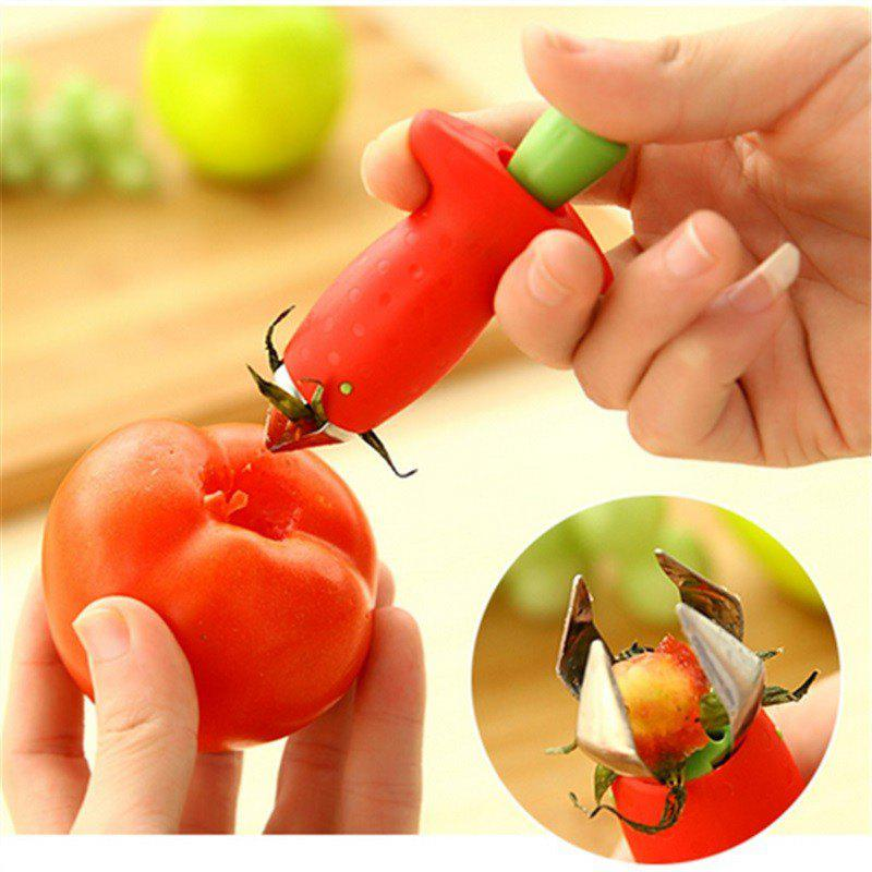 Strawberry Hullers Fruits Digging Tools Tomato Nuclear Corers Stalks Stem Remover Fruit Knife Kitchen Accessory женская рубашка strawberry witch lolita