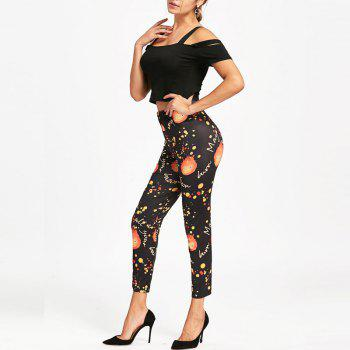 Halloween Pumpkin Print Pants - S S