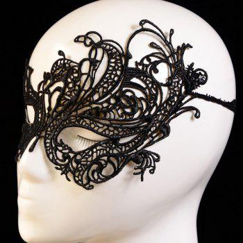 Yeduo Black Sexy Lady Lace Mask Cutout Eye for Masquerade Party Fancy Dress Costume - BLACK A