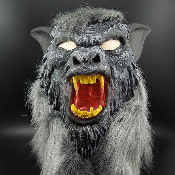 Yeduo Hot Sale Latex Animal Wolf Head Mask avec cheveux Halloween Party Fancy Scary Dress Costume Horror Anonyme Masques visuels - multicolorcolore