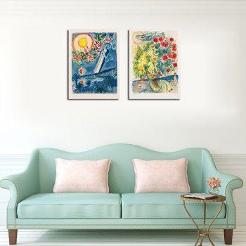 Hx-Art No Frame Canvas Europe Classic Abstract Living Room Double Decorative Painting - COLORMIX 60CMX80CMX2