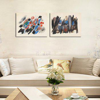 Hx-Art No Frame Canvas Classic Abstract Painting Living Rooms Europe America-Up Decorative Painting - COLORMIX 60CMX80CMX2