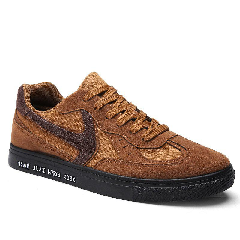 Solid Color Patchwork Casual Shoes - BROWN 43