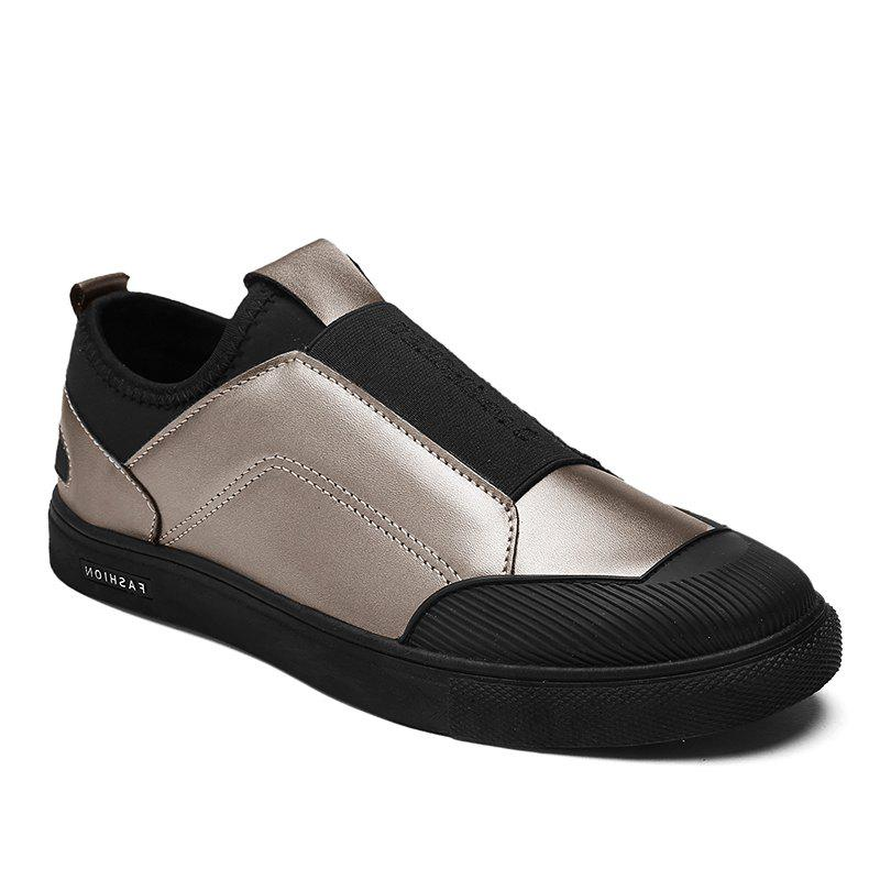 Patchwork Elastic Band Slip-On Casual Shoes - GOLDEN 44
