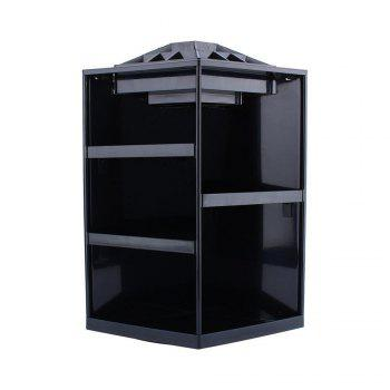 360 Degree Rotating Cosmetic Makeup Organizer Box Storage Rack Case Stand Holder Jewelry Gifts Toy - BLACK COLOR BLACK COLOR