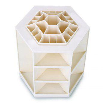 360 Degree Rotating Cosmetic Makeup Organizer Box Storage Rack Case Stand Holder Jewelry Gifts Toy - WHITE WHITE