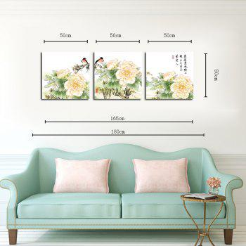 Hx-Art Non Triple Picture Frame Canvas Painting-Chinese Hua Fen Living Room Decoration Paintings - COLORMIX 50CMX50CMX3