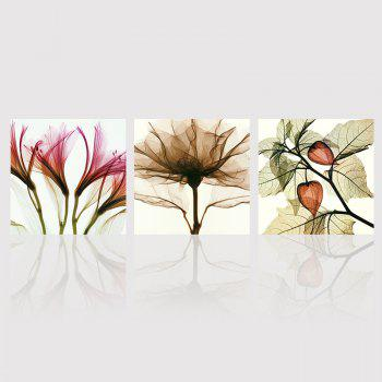 Hx-Art No Frame Triple Abstract Canvas Painting Flower Living Room Decorated In Modern Minimalist Paintings - COLORMIX COLORMIX