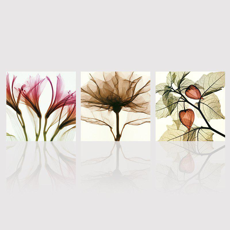 Hx-Art No Frame Triple Abstract Canvas Painting Flower Living Room Decorated In Modern Minimalist Paintings - COLORMIX 50CMX50CMX3
