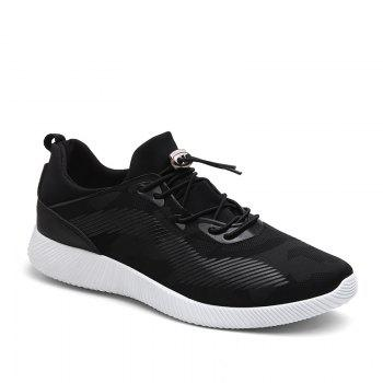 Drawstring Solid Color Breathable Casual Shoes - BLACK 39