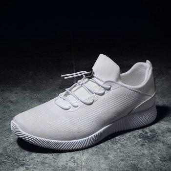 Drawstring Solid Color Breathable Casual Shoes - 44 44