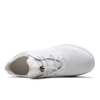Drawstring Solid Color Breathable Casual Shoes - 42 42
