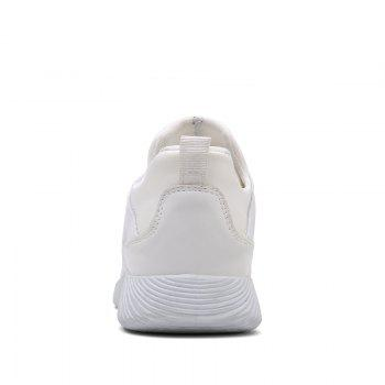 Drawstring Solid Color Breathable Casual Shoes - WHITE 40