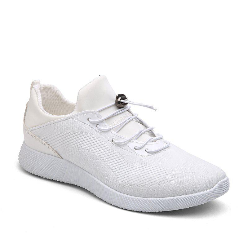 Drawstring Solid Color Breathable Casual Shoes - WHITE 41