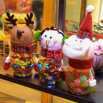Christmas Snowman Plastic Candy Containers Decorative Candy Bottles Holiday Decorations - RANDOM COLOR RANDOM COLOR