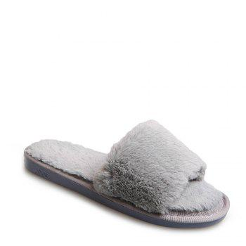 2017 Wool Flat Cotton Slippers - OYSTER OYSTER