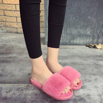2017 Wool Flat Cotton Slippers - 37 37