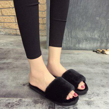 2017 Wool Flat Cotton Slippers - 38 38