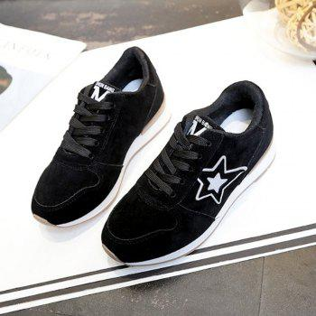 Star Pattern Solid Color Sport Shoes - 39 39