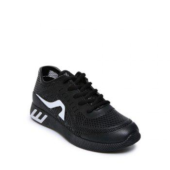 Hollow Out Color Block Casual Shoes - BLACK 40