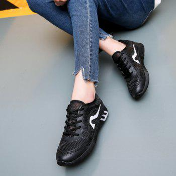 Hollow Out Color Block Casual Shoes - 38 38